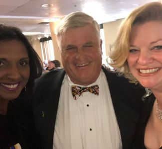 NVP John Cotter with VA President Sabitha Venkatesh and MD President Jennifer Ray
